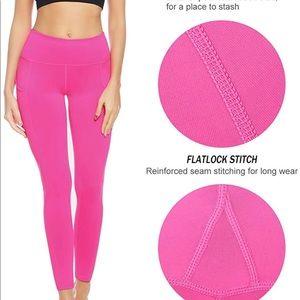 3/$12 Pink AUU Athletic Yoga Side Pocket Leggings